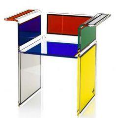 Mondrian Furniture table d'appoint design mondrian | bauhaus - de stijl | pinterest