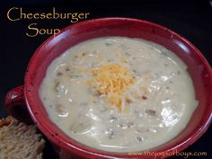 This cheeseburger soup recipe is sure to please even the most picky eater in your home. Easy to make and perfect for a stormy day.