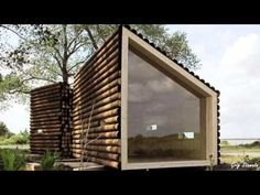 modern shed roof architecture Tiny Log Cabins, Modern Log Cabins, Prefab Cabins, Cabins And Cottages, Prefab Homes, Modular Homes, Log Homes, Small Cottages, Small Modern Cabin