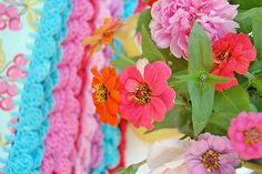 pillowcases with crochet trim...   Flickr - Photo Sharing!