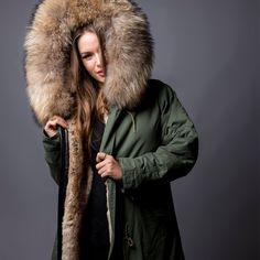 Our Khaki Parka will keep you warm this Spring  SouthWestTen Pelz,  Anziehen, Damen 116b34adf3