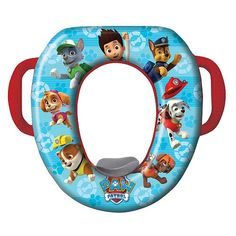 Nickelodeon Paw Patrol Potty Seat - Padded, Soft, and Durable - For Regular and Elongated Toilets - Removable Cushion for Easy Cleaning - Firm Grip Handles - Blue and Red