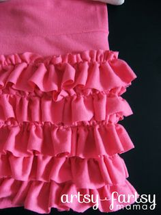 cute little girl's ruffle skirt recycled from an adult Tshirt