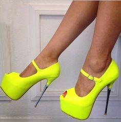 Party Girl Wearing Peep-toe Heels