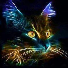 Fractal Cat Art by  josiane poissonnet - Google+