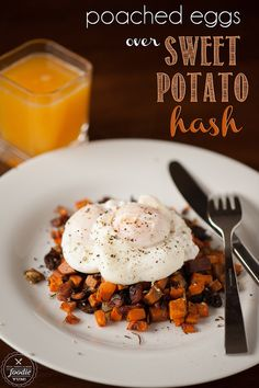 Imagine waking up on a chilly Fall morning to enjoy Poached Eggs over Sweet Potato Hash for breakfast. YUM! {Self Proclaimed Foodie}