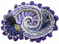 Prudence-Mapstone-purple-spiral brooch by freeform by prudence, via Flickr