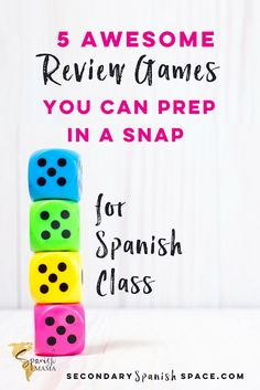 Easy review games for Spanish class that are no-prep and totally engaging.