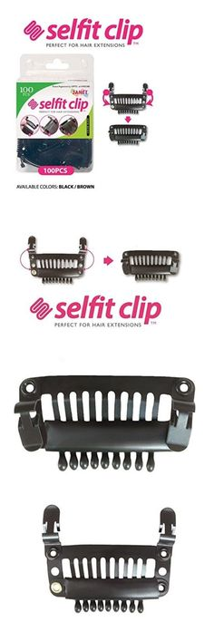 Wig and Extension Supplies: Selfit Clip, 100 Pieces, Feel Stylish And Comfortable All Day Long, Color Black -> BUY IT NOW ONLY: $31.99 on eBay!
