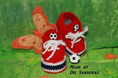 Babyschuhe  Turnschuhe /Fussball Schuhe  für Babys von Die Sandfrau auf DaWanda.com