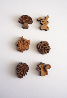 laser-cut woodland earrings - From TLC (The Laser Cutter) blog