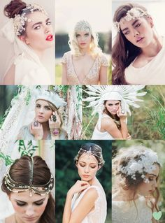 #Bridal #Headdresses Mood Board from The #Wedding Community