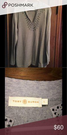 Tory Burch size L sweater Worn a few times in great shape! Tory Burch Sweaters V-Necks