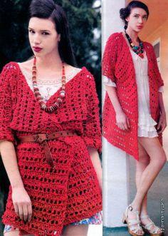 ♪ ♪ ... #inspiration #crochet #knit #diy GB. Buono! Russo, con schemi di giacche e molte altre cose!