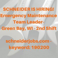 We are hiring for a Maintenance Team Leader in Green Bay! Mechanic Jobs, We Are Hiring, Job Posting, Team Leader, Slow Down, Green Bay, Knowledge, How To Apply, Trucks