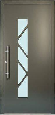Puerta de entrada / abatible / de aluminio / de PVC - GALANT - FINSTRAL