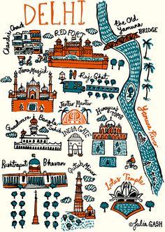 Delhi Cityscape by Julia Gash