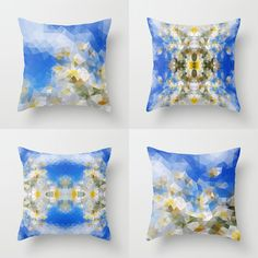 Blue Pillow cover Throw pillow Cushion covers Pillow by NikaLim