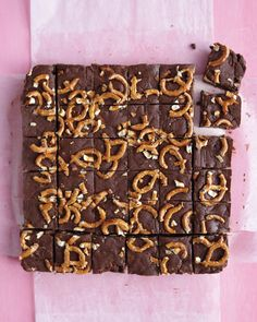Easy Chocolate Fudge with Pretzels    Makes 36  Ingredients:   Nonstick cooking spray  2 T unsalted butter, cut into small pieces  3 C semisweet chocolate chips (16 oz)  1 can (14 oz) sweetened condensed milk  1/2 tsp pure vanilla extract  1/8 tsp fine salt  2 1/2 C roughly chopped miniature pretzels