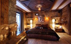 Resultado de imagem para wooden bedroom
