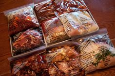 15 freezer meals + 1 mess = 1 Happy Meal Planner and Home {meals compiled are raw meats/chop veggies and put in bag, only ground beef has to be browned for 2 meals to prepare for freezer} Easy Peasy!
