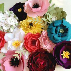 Gorgeous Reception Decor - large paper flower backdrop