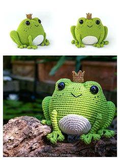 Crochet Frog, Crochet Octopus, Crochet Animal Amigurumi, Cute Crochet, Crochet Dolls, Crochet Baby, Crochet Amigurumi Free Patterns, Crochet Animal Patterns, Stuffed Animal Patterns