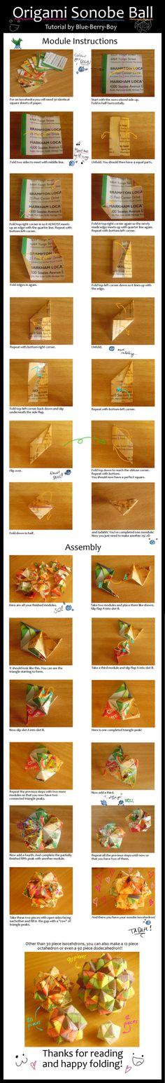 Origami Sonobe Ball Tutorial by Blue-Berry-Boy.deviantart.com