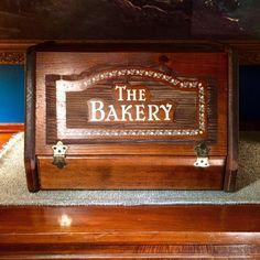 Vintage The Bakery Wooden Bread Box Breadbox by Bonhot on Etsy