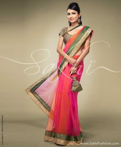 Indian Jewellery and Clothing: Designer sarees from Sakhi fashions..