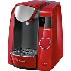 Buy Tassimo by Bosch Joy Pod Coffee Machine - Red at Argos. Machine Expresso, Espresso Coffee Machine, Drip Coffee Maker, Espresso Latte, Cappuccino Coffee, Tassimo Pods, Tassimo Coffee, Cheap Coffee Machines, Home Coffee Machines