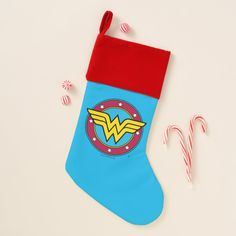 Wonder Woman Comic, Santa Claus Is Coming To Town, Star Logo, Christmas Card Holders, Christmas Stockings, Mickey Mouse, Stocking Ideas, Quilts, Stars