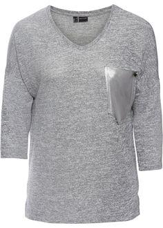 Das Shirt mit Tasche in Metallic-Optik setzt auf wirkungsvolle Details. Im Fokus steht die metallisch glänzende Brusttasche. Das melierte Design und die überschnittene Schulterpartie betonen die legere Passform.