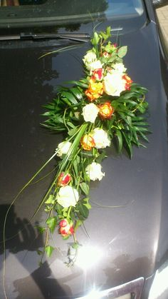 Autogesteck Wedding Car, Flower Arrangements, Glass Vase, Table Decorations, Flowers, Plants, Home Decor, Floral Arrangements, Decoration Home