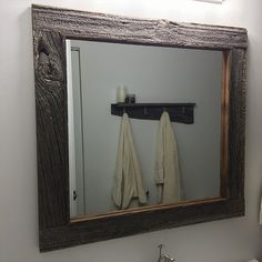 Custom barn board mirrors that can be made to any size!