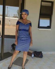 zulu traditional attire 2019 for black women - shweshwe ShweShwe 1 Zulu Traditional Attire, South African Traditional Dresses, African Traditions, Dress Attire, African Attire, Online Fashion Stores, African Fashion, Black Women, Bob