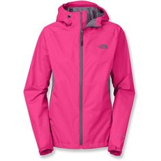 The North Face RDT Rain Jacket Women's ($90) ❤ liked on Polyvore featuring activewear, activewear jackets, the north face, pink sportswear and pink activewear