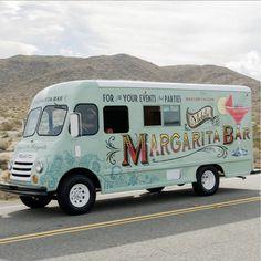Rasta Rita mobile margarita truck. Think of it as an ice-cream truck for grownups!  #margaritas #barservice #alcohol #margaritabar #portablebarservice #drinks #cocktails