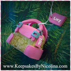 This ornament may be personalized with the name and year of your choosing. Personalized Christmas Ornaments, Keepsakes, Coach Purses, Personalized Gifts, Bags, Custom Christmas Ornaments, Souvenirs, Handbags, Customized Gifts