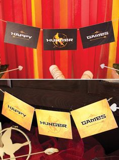 FREE Printables: The Hunger Games Party (Table & Buffet)