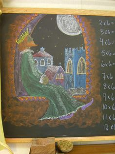 Chalkboards - Archived SBS Grade 5 Chalkboard Drawings, Chalk Drawings, Chalkboard Ideas, 2nd Grade Math, Grade 1, Second Grade, Waldorf Math, Form Drawing, Waldorf Education