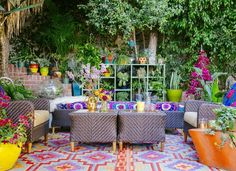 18 ideas for styling outdoor rugs front yard bohemian patio, Bohemian Patio, Décor Boho, Bohemian Decor, Bohemian Style, Boho Chic, Outdoor Rooms, Outdoor Living, Outdoor Furniture Sets, Outdoor Decor