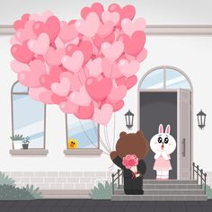 "LINE FRIENDS_Official (@linefriends) on Instagram: ""Only for you #spring #love #Brown #Cony #xoxo #LINEFRIENDS"""