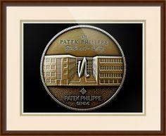 "Patek Philippe Geneve Commemorative Medal Coin // Paper: enhanced matte; Glazing: acrylic; Moulding: light brown, spada humble honey; Top Mat: white/cream, chantilly; Middle Mat: tan, brushed pale gold; Bottom Mat: white/cream, brilliant white // Price starts at $168 (Petite: 20"" x 22""). // Customize at http://www.imagekind.com/Patek-Philippe-Geneve-PPG_art?IMID=5cad76ca-2632-4430-9e1b-71f73e27c714"
