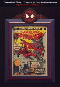 "Looking for a Comic Book Frame for a specific Title or Series? Checkout our ""Premier Series"" Custom Comic Book Display Frames. Hand Crafted Polystyrene, Acrylic Coated, Custom Painted (with colors YOU choose) Comic Book Display Frames.  http://CustomComicDisplays.com/"