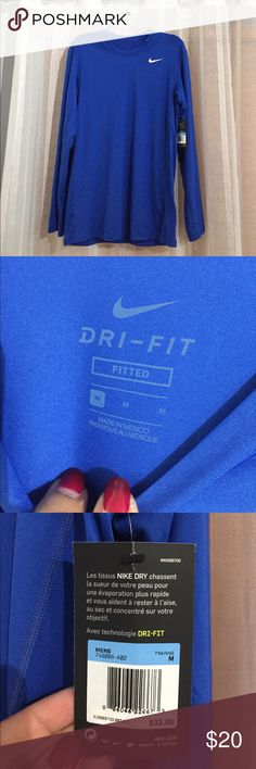 Nike dri fit fitted shirt new New with tags size M Nike Shirts Tees - Long Sleeve