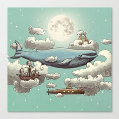 Ocean Meets Sky  Stretched Canvas by Terry Fan - $85.00