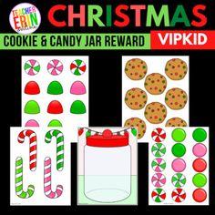Christmas Cookie and Candy Jar Rewards   VIPKid Reward   Fill The Jar Reward