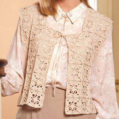 Crochet motif vest pattern|Diamond shaped crochet motif - LeisureArts