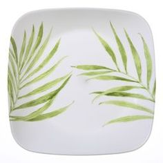 """Square™ Bamboo Leaf 8-3/4"""" Lunch Plate"""